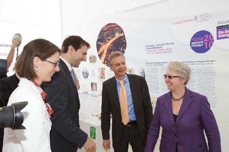 Ministers and guests viewing the exhibition